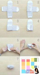 Socken wie Falten, Aufhängen und Aufbewahren