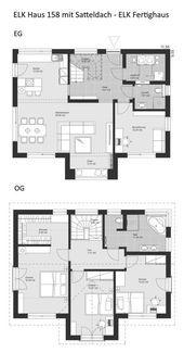 Grundriss eines Einfamilienhauses, modern mit Sattel … – #Architektur #Eine Familie …   – Anbau Walmdach