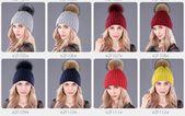 Boapt Brand Warm Natural Raccoon Fur Hats For Women Knitted Braid Beanie Female Caps Pompon Headgear Winter Girl Lady Skullies Hats – Fashion 2019/2020
