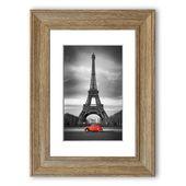 East Urban Home Gerahmtes Poster Eiffelturm mit rotem Auto | Wayfair.de