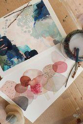 Aquarell abstrakt #abstrakt #aquarell #paintingartideas