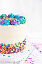 Funfetti cake | BaJillian Recipes-13 #unicorncake   – unicorn cake recipes