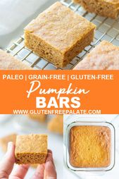 Paleo Pumpkin Bars | Grain-Free