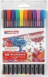 Edding 1340 Tangle Brush Pen Set Of 10 Assorted Colouring Art