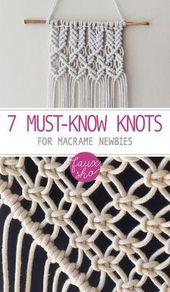 7 Must-Know-Knoten für Macrame-Neulinge