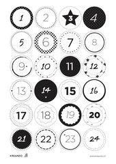 24 chiffres pour ton calendrier de l'Avent prêts à être imprimés et décor…