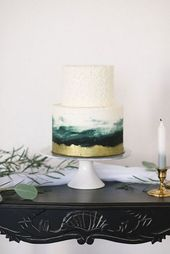30 raffinierte smaragdgrüne Hochzeitsideen   – Kuchen