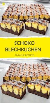 SCHOKO BLECHKUCHEN – 12Rezepte   – Rezepte
