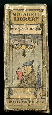 Maurice Sendak Nutshell Library – Livre mural – Colonne vertébrale agrandie   – Book covers