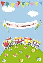 Glückwunschkarte Zum Kindergeburtstag Herzliche Glückwünsche