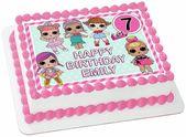 LOL Puppen Pink & Mint essbare Wafer Sheet Cake Topper Geburtstag Dekoration Bild …   – Cakes