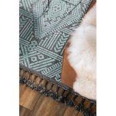 benuta Kurzflor Teppich Laila Blau/Schwarz 80×150 cm – Moderner Teppich für Wohnzimmer benuta – Products