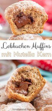 Lebkuchen Muffins mit Nutella Kern – einfach & saftig