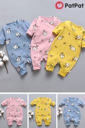BIG SALE - Baby Boy/Girl Cute Fish Allover Cotton Style Jumpsuit
