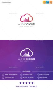 Cloud Logo — Photoshop PSD #digital #music • Available here → graphicriver.net/…