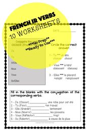 French Ir Verbs 10 Worksheets Verb Worksheets Learn French Verb
