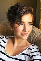 Modern pixie cut hair cut.