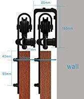 Ccjh 5ft 153cm Bypass Quincaillerie Kit De Rail Roulettes Pour Porte Coulissante Hardware Pour Deu Roulette Porte Coulissante Porte Coulissante Porte Suspendue