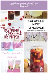 This non-alcoholic drink recipe made with Dr. Pepper, raspberry puree and coconu…   – silver-hair