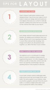 Blog Design Tips: Layout – Click image to find more Design Pinterest pins