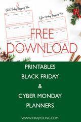 Free Black Friday Cyber Monday Shopping Planner Cyber Monday Cyber Monday Shopping Black Friday