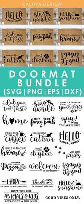 DIY Doormat SVG Cut File Bundle Deal | Cut File fo…