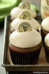 Von Rachel gebacken »Guinness-Schokoladen-Cupcakes mit Baileys Brown Sugar Cream Ch …