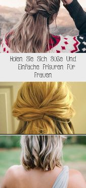 Get cute and simple hairstyles for women