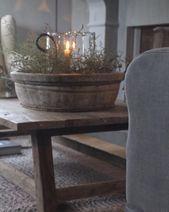 Einfache Bauernhaus-Weihnachtskaffee-Tischdekoration, zum des Frieda D Anredens zu machen #An…