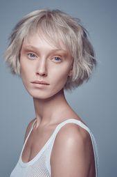 Finesse für feines Haar: Das Optimale an Volumen bietet dieser raffiniert geschnittene, kinnlange Cut, der sehr edel und fast schön ätherisch schö…