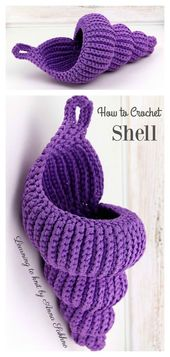 Spiral Shell Crochet Basket Pattern – Häkeln