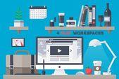 Illustrator Workspace Office Workplace | Pre-Designed Illustrator Graphics ~ Creative Market