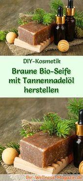 Braune Bio Seife herstellen – Seifen-Rezept & Anleitung