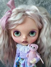 RBL Limited My Little Candy – Original genuine Takara OOAK Custom Blythe doll – Amelia, with natural wefts hair and Obitsu 24 body
