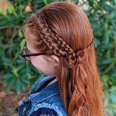 33 Ideen für geflochtene Frisuren für Kinder, die Sie noch nie gesehen haben – Fr …   – frisuren Flechten #Geflochtenefrisuren #Frisuren #frisuren…