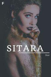 Sitara, signification étoile, noms hindi, noms de bébé S, prénoms S, prénoms féminins   – Namen