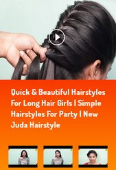quick & beautiful hairstyles for long hair girls | simple hairstyles for party |…