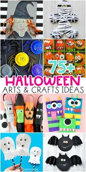 75+ Fun and Easy Halloween Arts and Crafts Ideas for Kids