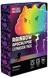 Amazon Com Unstable Unicorns Rainbow Apocalypse Expansion Pack Toys Games Unicorn Card Card Games Battle Card Games