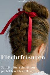 Braided Dutt Braids with Dutt This braiding requires a bit of practice: it is braided overhead. ## braid hair # hair #fle …