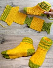 Two Needle Socks – Free Knitting Pattern (Amazing Knitting)