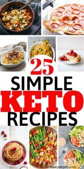 25 recetas simples de Keto para principiantes que te ayudarán a perder peso # keto # ketorec …