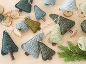 Drei Häkelmuster für Weihnachtsanhänger
