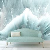 Paint Stains Wallpaper.  Shining Splash Wall Decor. Blue Wallpaper. Ombre Wallpaper. Peel and Stick. Removable Wallpaper. Non Woven KM381