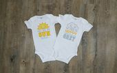 Baby Shower Songs Twin Set You Are My Sunshine Baby Onesies, Bodysuit, Photo Prop, Twin Pregnancy ...