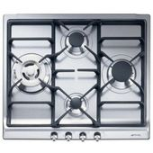 Sr60ghu3 By Smeg Natural Gas Cooktops Goedekers Com Greenhouse Kitchen Smeg Gas Hob