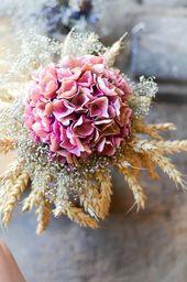 Hortensie Bouquet | Hortensie | Gypsophila | Getreide | Herbststrauß   – DIY
