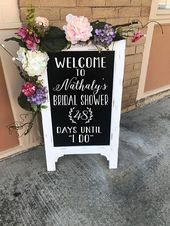 Welcome Bridal Shower Sign – Days Until I Do – Wedding Chalkboard – Bride To Be – Wedding Sign – Party Bridal Shower Decor – Countdown