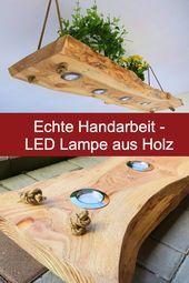 Led Lampe Aus Holz Ehrliche Handarbeit Massives Larchenholz 5 Led Spots Wood Ceiling Lamp Wooden Lamp Led Spot