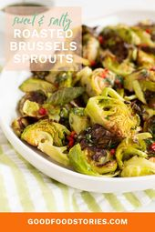 Roasted Brussels sprouts with a sweet and salty Asian dressing brings out the na…   – Holiday Recipes